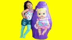 Baby Alive KOCAMAN Dev Sürpriz Yumurta Açma Oyuncak Bebekler Oyun Hamuru TV