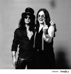 Ozzy and Slash... You know something bad is going to happen