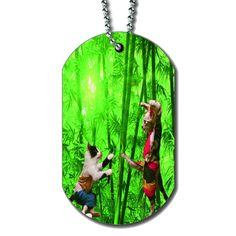 Kitten Kung Fu - Dog Tag Necklace ** Special cat product just for you. See it now! : Cat Collar, Harness and Leash
