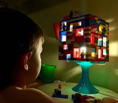 LEGO is awesome and we love playing with it so we decided to make a super simple LEGO house night light. My 4 year old created this masterpiece!