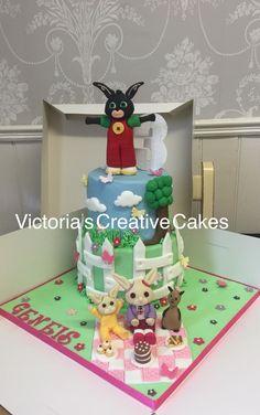 Designer gift box birthday cake Victorias creative cakes