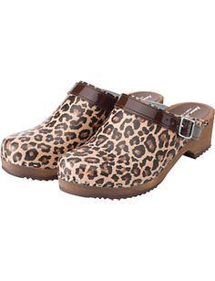Leopard Print clogs