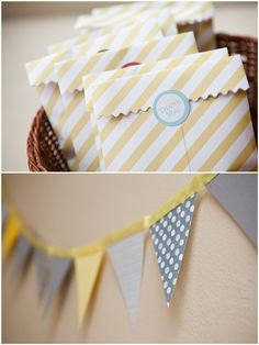 gray and yellow party details