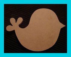 Bird Shape 10x7 Unfinished Mdf Mosaic Base Craft Shape by zzbob, $8.50