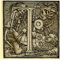 Holbein Alphabet 1526: Initial T