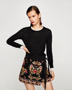 Zara Basic Plumetis OFF SHOULDER ABITO RICAMATO EMBROIDERED DRESS RICAMATI