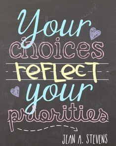 Your choices quotes - love this!
