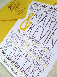 Letterpress Typographic Invitation from Armato Design & Press