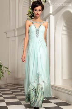 Shinning Hollow Design Floor-length Evening Prom Dress : Tidebuy.com