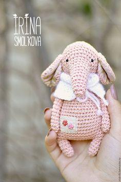 Crochet Elephant | слоник ЦВЕТОЧЕК - кремовый, слоник, слоники, слон, слоны, слон игрушка, слоник в подарок