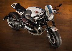 Beautiful BMW R nineT #CafeRacer Martini Racing Version by Stucki2Rad - VTR Customs #motorcycles #motos | caferacerpasion.com