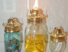 How to make your own mosquito repelling citronella candles – The Owner-Builder Network Citronella Oil, Citronella Candles, Oil Candles, Mason Jar Crafts, Mason Jar Diy, Mason Jar Lamp, Diy Mosquito Repellent, Mosquito Spray, Insect Repellent