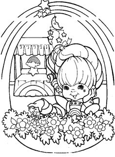 Rainbow Brite Ridding Horse Coloring Pages