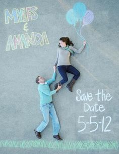 awesome save the date photography idea! this is just great!!! so freakin awesome!!!!!!!!!!!