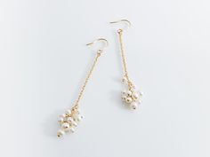 handmade jewelry | earrings | pearl | 淡水パールピアス
