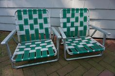 Beach Lawn Chairs Portable Commode Chair 70 Best Vintage Folding Aluminum Strapping 2 Frames Pool Picnic