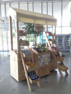 场景 Scenes nail art n ft myers - Nail Art Fruit Stands, Food Stands, Bar Deco, Farmers Market Display, Food Cart Design, Vegetable Shop, Market Stalls, Idee Diy, Bude