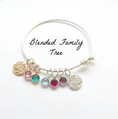 Personalized Bracelet Blended Family Tree by vintagestampjewels