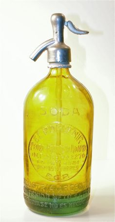 Rare 40's Glass Seltzer Bottle. $178 - Callicoon http://furnishly.com/catalog/product/view/id/3223/s/rare-40-s-glass-seltzer-bottle/