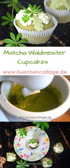 Gefüllte Waldmeister-Matcha-Cupcakes   Küchencottage  http://kuechencottage.de…