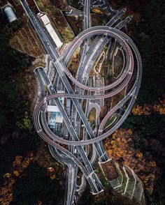 Check out this incredible drone capture of a roadway interchange outside of Sagamihara, Japan.