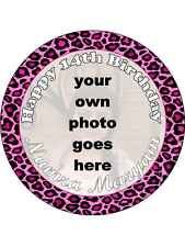 YOUR OWN PHOTO Personalised Round EDIBLE BIRTHDAY CAKE TOPPER ICING SHEET