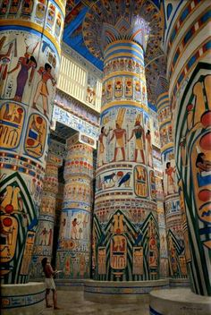 Hypostyle Hall, Temple of Karnak around BCE by Balage Balogh Ancient Egypt Fashion, Ancient Egypt History, Ancient Egypt Culture, Ancient Aliens, Ancient Greece, Egyptian Drawings, Egyptian Art, Egyptian Jewelry, Ancient Egypt Architecture