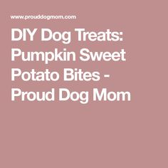 DIY Dog Treats: Pumpkin Sweet Potato Bites - Proud Dog Mom