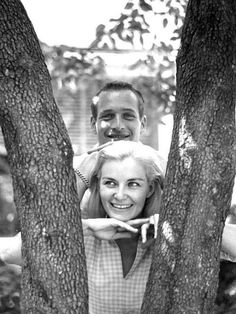 "Paul Newman and Joanne Woodward ""I have this wonderful memory of his wife, Joanne Woodward, whispering something in his ear and him laughing and laughing. He then leaned over and whispered something in her ear, and she started laughing and laughing. This went on for two or three minutes. They just had so much fun with each other."" - Stephen Spinella, 2014"