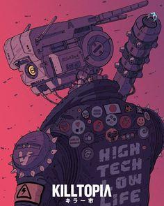 by Laurie Greasley – Cyberpunk Gallery Art Cyberpunk, Cyberpunk Aesthetic, Cyberpunk Character, Cyberpunk Tattoo, Cyberpunk Fashion, Poster Architecture, Futuristic Architecture, Character Concept, Character Art