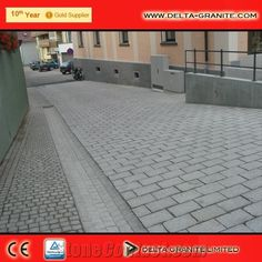 change of cobble size for walkway