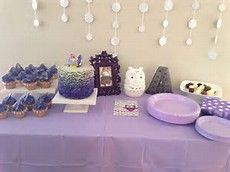owl 1st birthday purple - Bing images