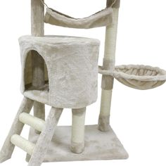 CUPETS Cat Tree flannelette Cat Climber Play House Condo Furniture with Scratching Post, Activity Tree Pet Products for Cats 56 Inches High >>> You can find more details by visiting the image link. (This is an affiliate link) #CatCondoTreeTower