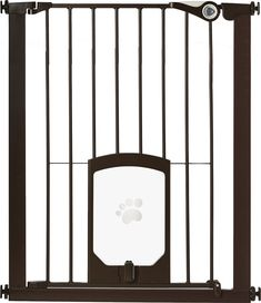 leave no room unattended with the mypet extra tall petgate passage gate with small pet door