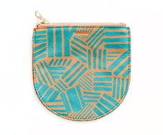 hand-painted leather pouch by bagu on sight unseen