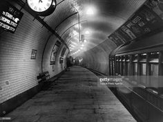 The platform of the Central London Railway extension at Liverpool Street Station. 1912