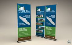 Construction Company Pop-up Banner Stands