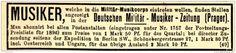 Original-Werbung/ Anzeige 1897 - DEUTSCHE MILITÄR - MUSIKER - ZEITUNG - ca. 90 x…