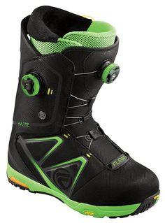 Flow HYLITE BOA Snowboard Boots, UK 10.5 (M295), Black/Lime, 2013