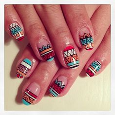 Maybe just an accent nail but I live the design.