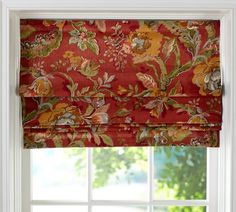 Roman Shade - Possible idea for breakfast area, not in this fabric, just the idea