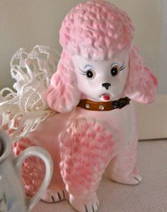 Sweet pink poodle by Sweet Vintage Rose Cottage, via Flickr