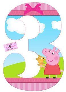 Alphabet Peppa Pig in the Field with Puppy. - Oh my Alfabetos! Invitacion Peppa Pig, Cumple Peppa Pig, Third Birthday, 3rd Birthday Parties, Birthday Party Decorations, Special Birthday, Peppa Pig Imagenes, Peppa E George, Peppa Big