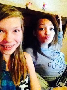 Mikayla and I hanging out at my house.