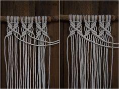 Kaarnan katveessa: Kuvalliset ohjeet: makramee seinävaate Handicraft, Clothes Hanger, Diy And Crafts, Creations, Crochet, Instagram, Wall, Inspiration, Challenges