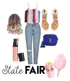 """""""Untitled #45"""" by graciebenda on Polyvore featuring Topshop, Yves Saint Laurent, statefair and summerdate"""
