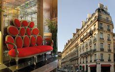 We are a global and creative design studio in Geneva, Tokyo and Beijing. Outdoor Sofa, Outdoor Furniture, Outdoor Decor, Red Bench, Reception Entrance, Interior Architecture, Interior Design, Red Sofa, Paris Restaurants