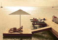 #Luxe beach loungin