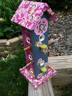 """Strawberry Shortcake"" Bird Feeder"