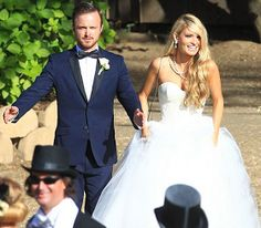 Aaron Paul wedding, navy and black tux